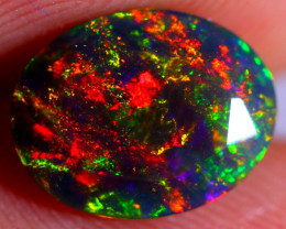 1.25cts Ethiopian Smoked Black Faceted Opal / AK225