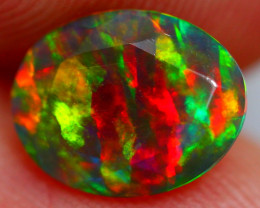 1.09cts Ethiopian Smoked Black Faceted Opal / AK230