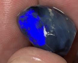 ELECTRIC BLUE ON BLACK; 11.3 CTs of Lightning Ridge Opal #1420