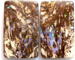 16.25 CTS BOULDER WOOD FOSSIL OPAL STONE PAIR  NC-6718