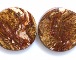 7.35 CTS BOULDER WOOD FOSSIL OPAL STONE PAIR  NC-6722