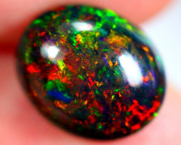 3.12cts Ethiopian Smoked Black Faceted Opal / AK242