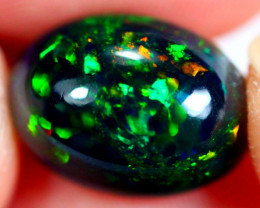 4.16cts Ethiopian Smoked Black Faceted Opal / AK244