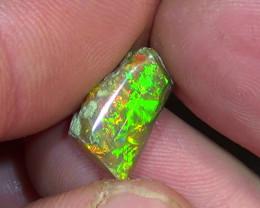 3.70 cts Ethiopian Welo CHAFF brilliant dark polished opal N4 5/5