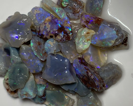 NOBBY CRYSTAL ROUGH; 100 CTs of Lightning Ridge Rough Opal #1445