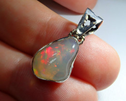 10.28ct Blazing Welo Solid Opal .925 Sterling Pendant