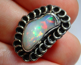 17.14ct Blazing Welo Solid Opal .925 Sterling Pendant