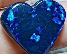12.83Cts Speckled Blue Heart-Shaped Stone Nat89