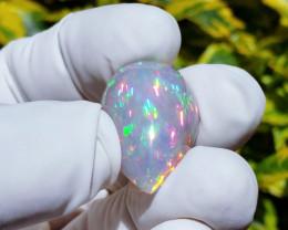 Screamin Bright® Foggy Grayish-Purple Semicrystal Rainbowprism Teardrop
