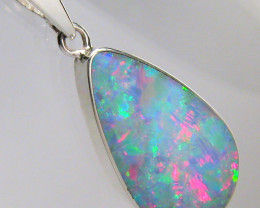 Opal Pendant Genuine Natural Australian Silver Jewelry 8.4ct Necklace Gift