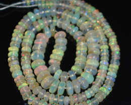 45.85 Ct Natural Ethiopian Welo Opal Beads Play Of Color