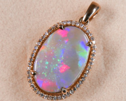 EXTREMELY RARE Australian Opal Pendant from Lightning Ridge