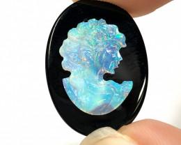 European style opal cameo OPJ 2525