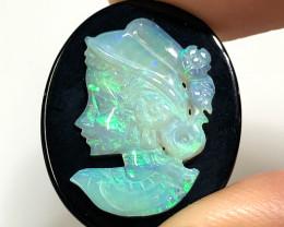 European style opal cameo OPJ 2527
