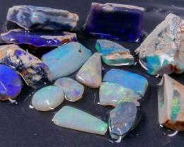 Rough Opal Lot 67.85 cts 16 pcs Black Opals Lightning Ridge BORA2S191019