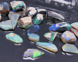 Rough Opal Lot 61.62 cts 20 pcs Black Opals Lightning Ridge BORA3S191019