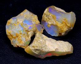 23.13Ct Multi Color Ethiopian Welo Rough Parcel Lot F2205