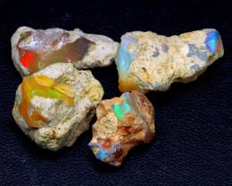 32.40 Ct Multi Color Ethiopian Welo Rough Parcel Lot F2208