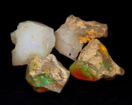 41.46 Ct Multi Color Ethiopian Welo Rough Parcel Lot F2210