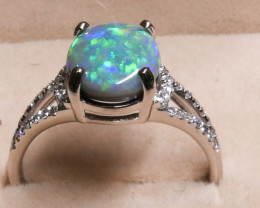 AUSTRALIAN OPAL RING FROM LIGHTNING RIDGE
