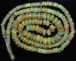 39.60 Ct Natural Ethiopian Welo Opal Beads Play Of Color