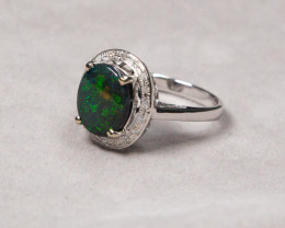 BLACK OPAL RING LIGHTNING RIDGE