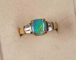 AUSTRALIAN OPAL GOLD  RING LIGHTNING RIDGE