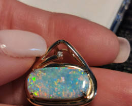 ABSOLUTELY GORGEOUS AUSTRALIAN OPAL PENDANT LIGHTNING RIDGE