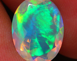 2.37 CT Extra Fine Quality Faceted Cut Ethiopian Opal -DF173