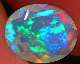 2.11 CT Electric Fire!! Faceted Cut Ethiopian Opal -DF174