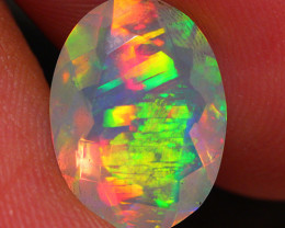 2.33 CT SATURATED PATTERN!! Faceted Cut Ethiopian Opal -DF178