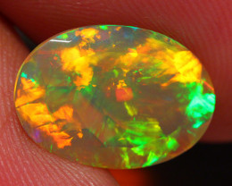 2.51 CT Broad Patchwork!! Faceted Cut Ethiopian Opal -DF184
