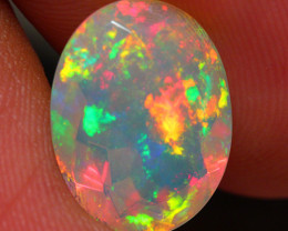 2.87 CT 13X10 MM Extra Fine Quality Faceted Cut Ethiopian Opal -DF186