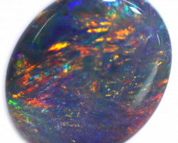 0.70 CTS BLACK OPAL STONE-FROM  OLD COLLECTION- [LROG893]