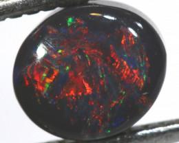 0.65 cts BLACK Lightning Ridge Opal Cut Stone C-418