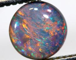 0.45cts BLACK Lightning Ridge Opal Cut Stone C-419