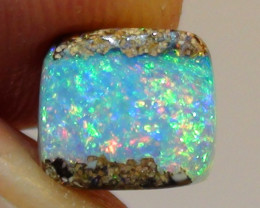 1.95 ct Gem Blue Green Queensland Boulder Opal Pipe