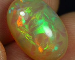 Wholesale 6.40cts Unique Painting Pattern Natural Ethiopian Welo Opal