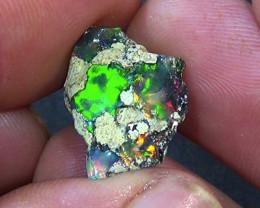 9.20 cts Ethiopian Welo FLASH dark brilliant rough opal N4 5/5