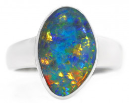 18K GOLD TRIPLET OPAL RING [CR68]