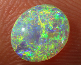 0.55ct 7x6mm Solid Lightning Ridge Crystal Opal [LO-1763]