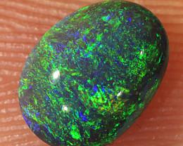 0.6ct 6.8x5mm Solid Lightning Ridge Black Opal [LO-1775]