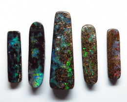34.15ct  5 Stone Queensland Boulder Opal Parcel