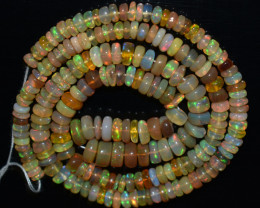 63.85 Ct Natural Ethiopian Welo Opal Beads Play Of Color