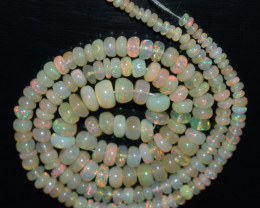 44.60 Ct Natural Ethiopian Welo Opal Beads Play Of Color