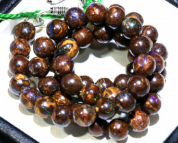 157.50- CTS BOULDER OPAL BEADS  STRANDS TBO-10029