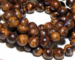 127.50- CTS BOULDER OPAL BEADS  STRANDS TBO-10040