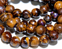 97.50- CTS BOULDER OPAL BEADS  STRANDS TBO-10043