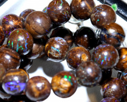 185- CTS BOULDER OPAL BEADS  STRANDS TBO-10044