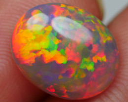 1.90 CRT AWESOME DARK BASE MICRO PUZZLE PATTERN MULTICOLOR WELO OPAL